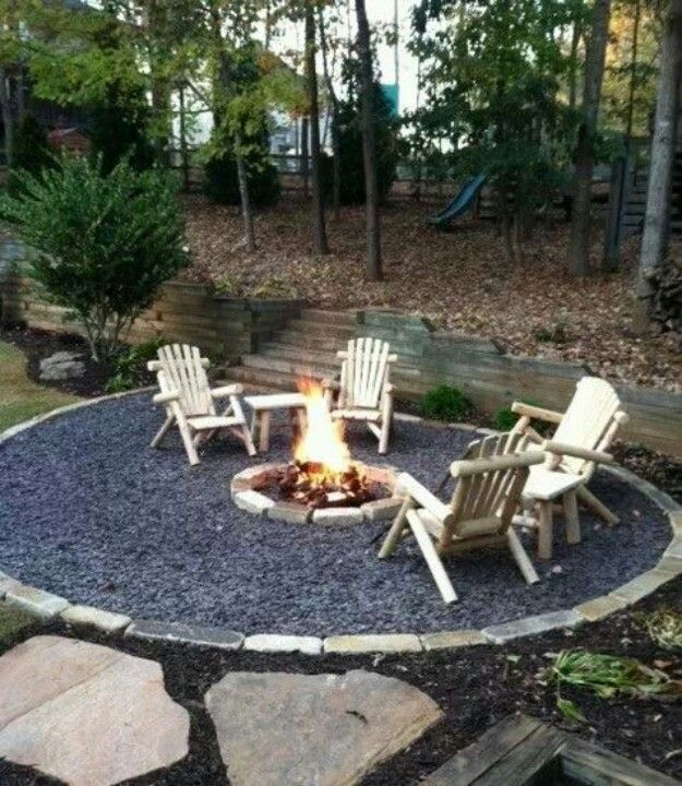 Simple backyard fire pit ideas outdoors