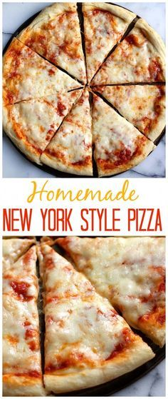 Homemade New York Style Pizza - this is amazing and so much better than delivery!!!