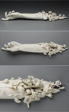 """""""Crave"""", the artist Kate MacDowell has hand-sculptured porcelain to make a…"""