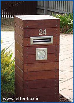 wooden feature letter boxes - Google Search