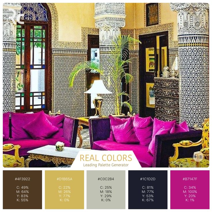 Moroccan interior design. Vibrant hues and details.  #findinspiration #colorpalettes #realcolors  #realcolorpalette #becreative #design #home #interiordesign #interior #lovecolors #lovedesigning  #homedecor #house #morocco #spaceart #ryad #instadecor #details   Real Colors for iPhone: http://www.itunes.com/apps/realcolors Or for Android: http://goo.gl/NtPx8