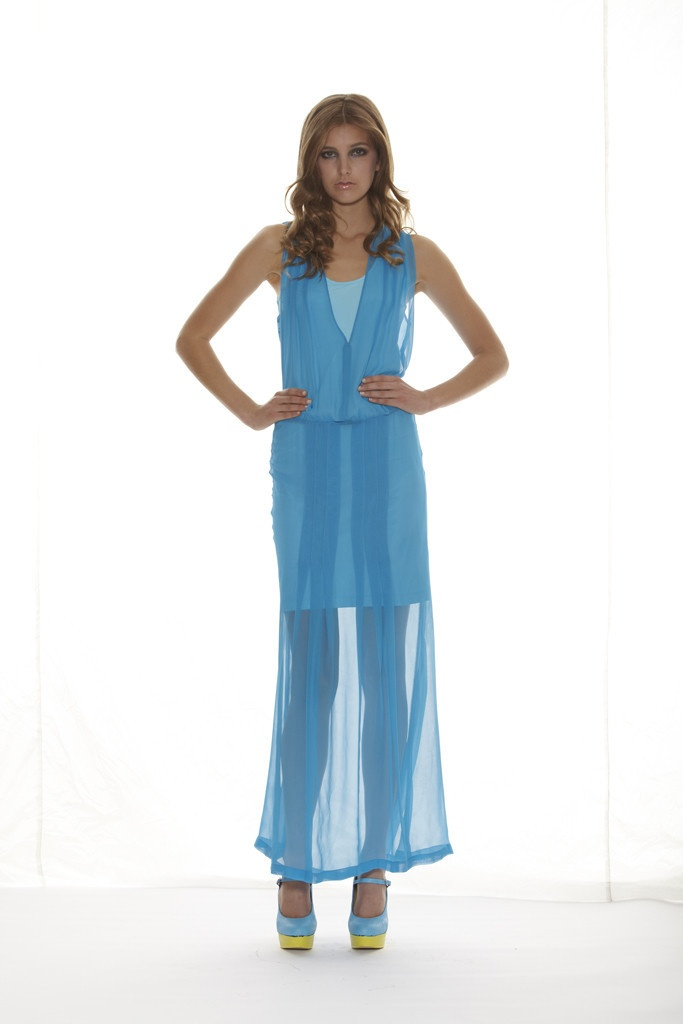Heliotope Dress - Turquoise