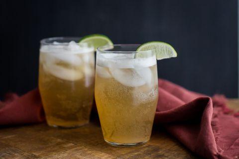 Non-Alcoholic Ginger Lime Fizz   @naturallyella
