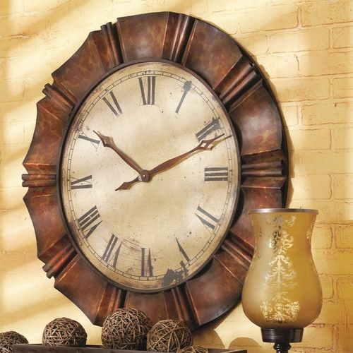 Cbk oversized wall clock client living room pinterest wall clocks and clock for Large wall clock in living room