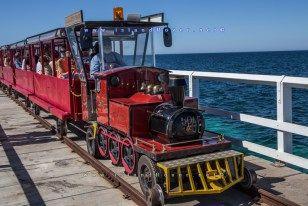 Train ride at Busselton Jetty, Western Australia