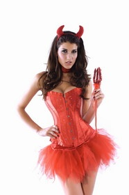 Muka Burlesque Red Rhinestone Corset with Tutu $29.99