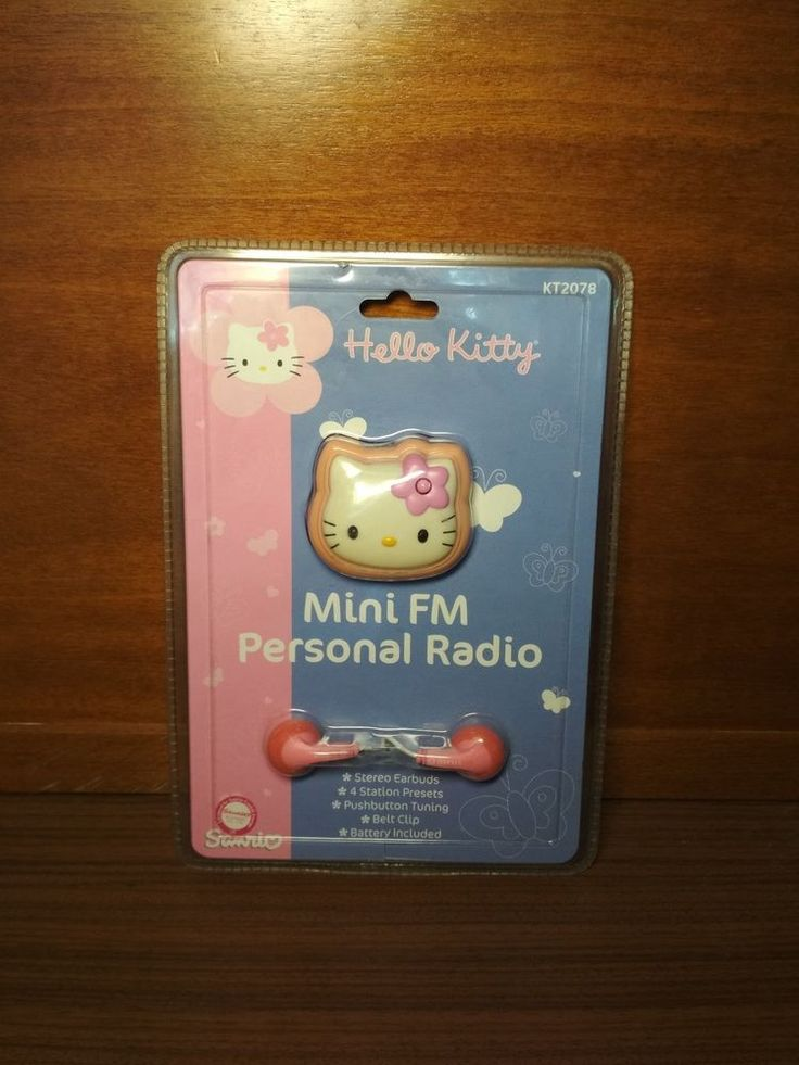 Hello Kitty Mini FM Personal Radio Kt 2078 by Sanrio Co.Ltd #Sanrio