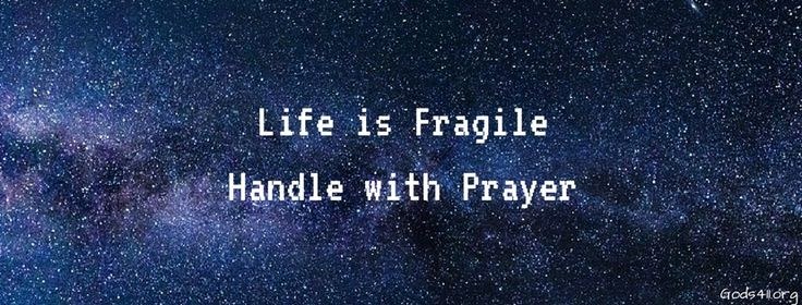 Life is fragile handle with prayer   Christian Facebook Cover