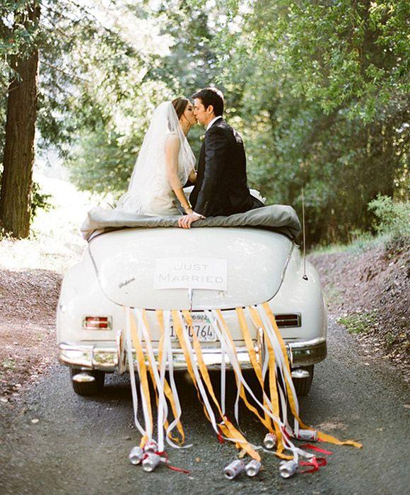 Ideas para decorar el coche de los novios el d�a de la boda