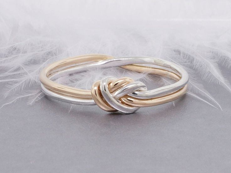 Love knot ring, gold and silver ring, promise ring, commitment ring, engagement ring, nautical ring - pinned by pin4etsy.com