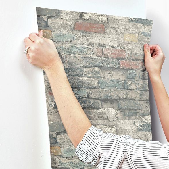 Roommates Brick Alley Peel Stick Wallpaper Peel And Stick Wallpaper Faux Brick Temporary Decorating