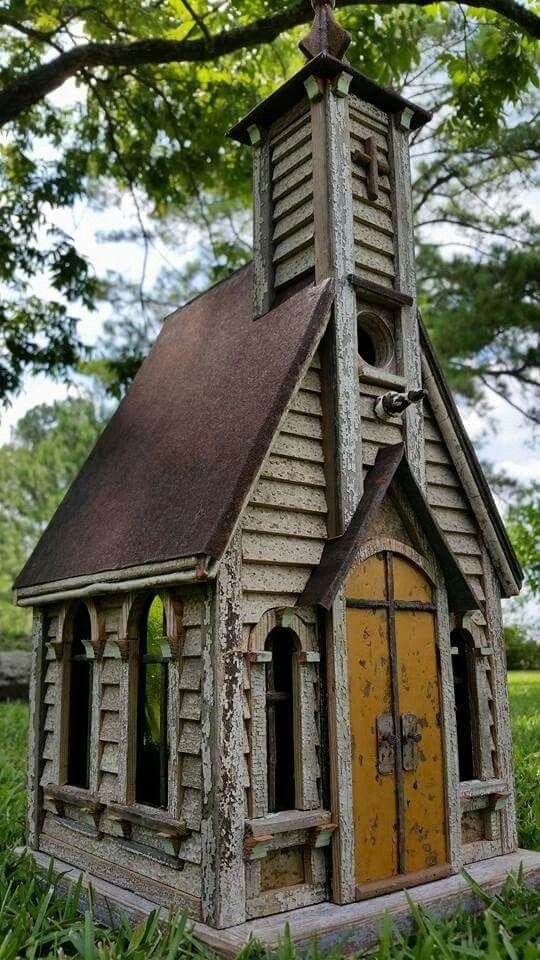 234 best bird houses images on pinterest birdhouses for Primitive house plans