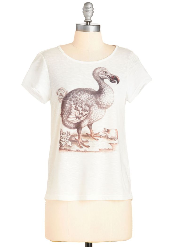 The More You Dodo Tee. Follow your stylish extincts by sporting this delightful graphic tee by Yumi! #white #modcloth