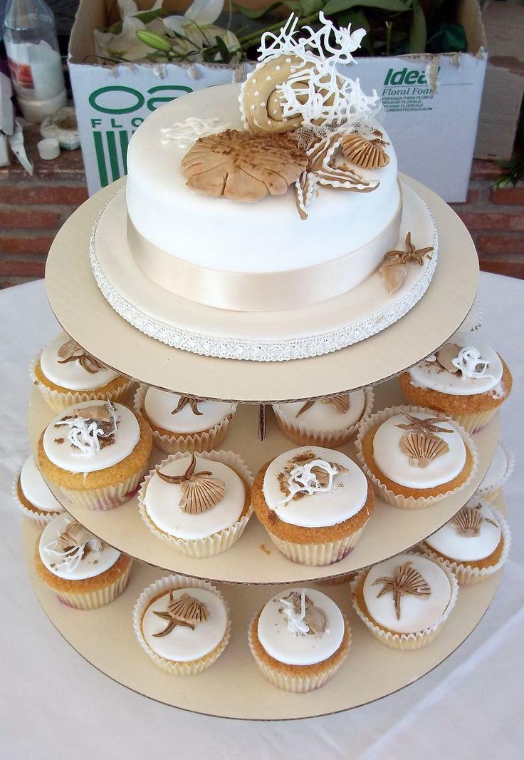Edible Beach Wedding Cake Decorations