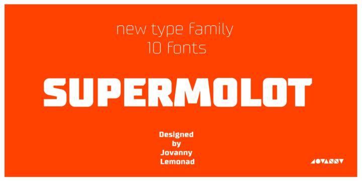 Supermolot (HOT font) - http://fontsdiscounts.com/supermolot-hot-font/