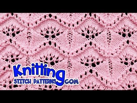 Ginkgo Leaf | Lace Knitting #19 - YouTube