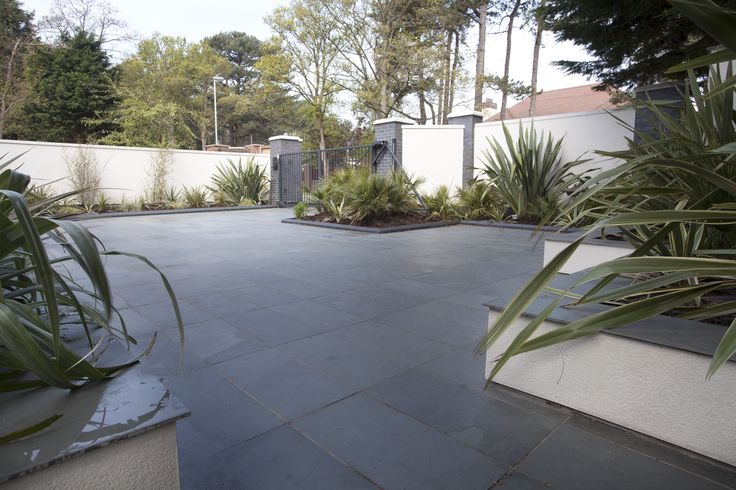 Brazilian Grey Natural Slate Paving Slabs 600x300x20-30  http://www.mrs-stone-store.com/product/?stone=SLP011+brazilian+grey+natural+slate+paving+slabs+600x300x20-30