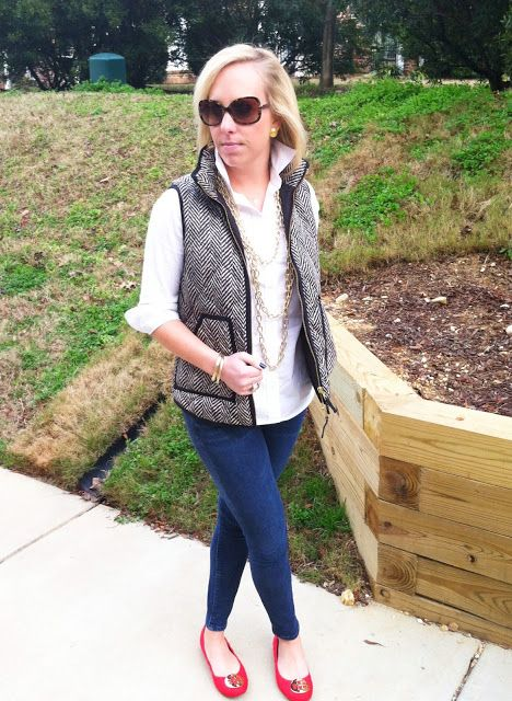 nine west quilted vest - Google Search