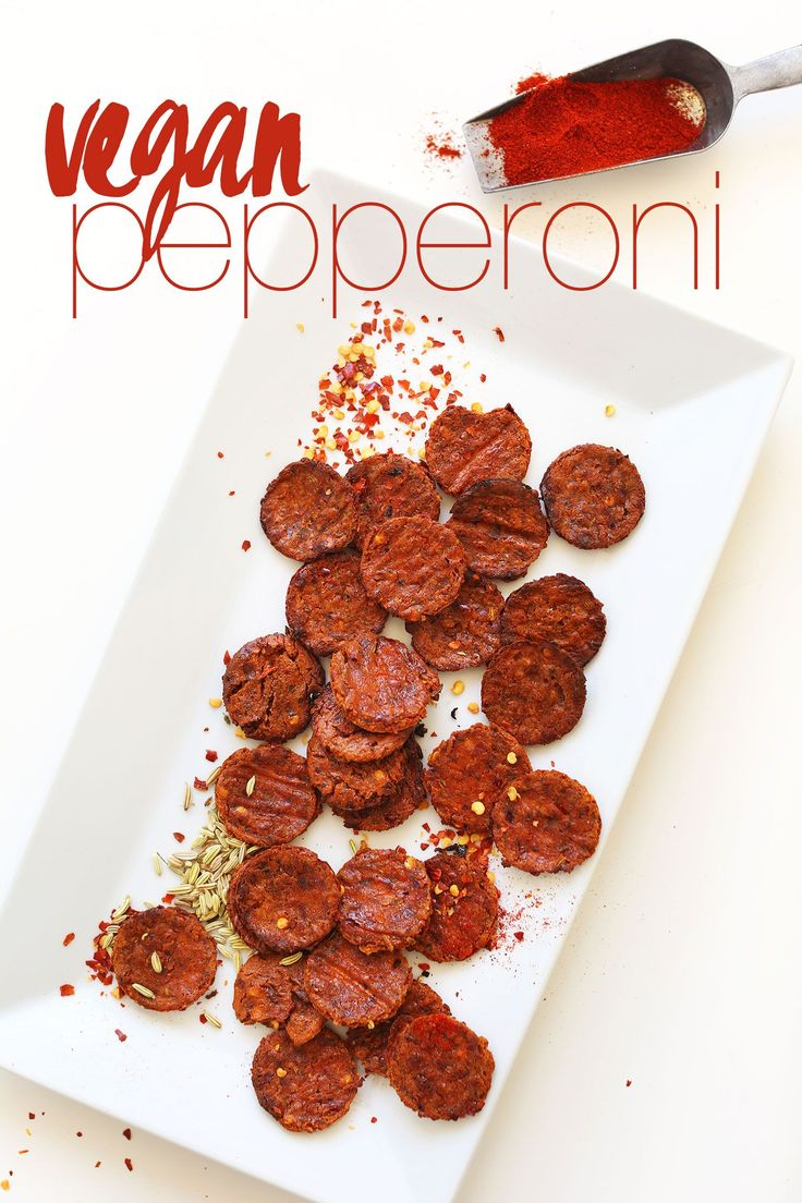 VEGAN PEPPERONI! (10 ingredients) - I might have to try this, even if it IS made from tofu.