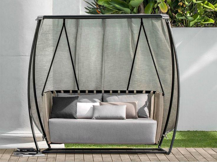 Garden swing seat SWING by Ethimo design Patrick Norguet