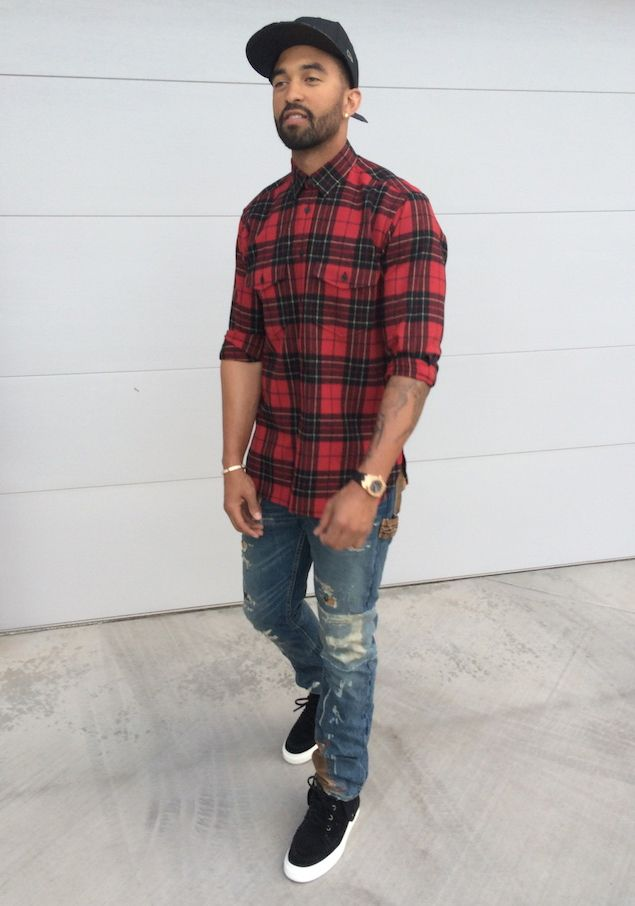 LA Dodger Matt Kemp looks so stylish and handsome in this cool street style look.