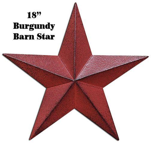 "18"" Burgundy Barn Star at KP Creek Gifts."