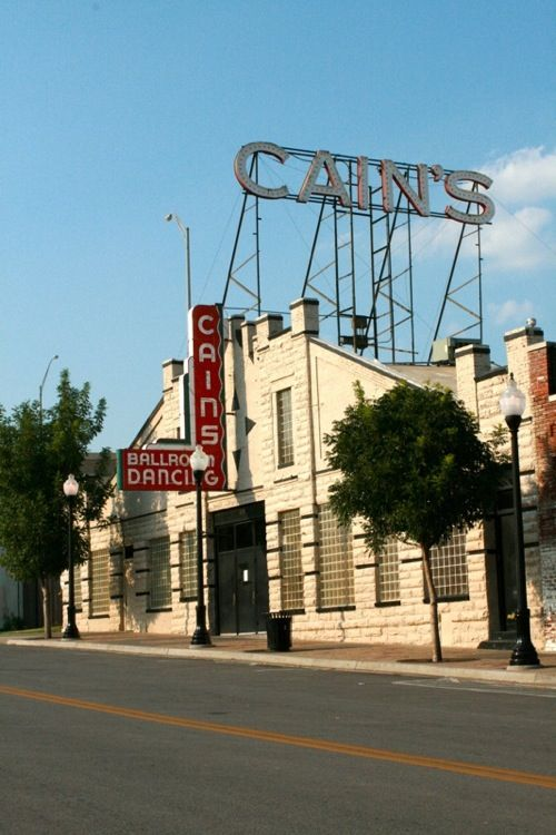 """Cains Ballroom ~ Tulsa, Oklahoma ~ Brady Arts and Greenwood District ~ The Brady Arts and Greenwood Districts sit just over the railroad tracks, north of downtown. Anchored by concert venues, Cain's Ballroom and the Brady Theater, and right by the new ONEOK Field, these are two of Tulsa's oldest but fastest growing areas."""" ~ photo by Dawn Thackray"""