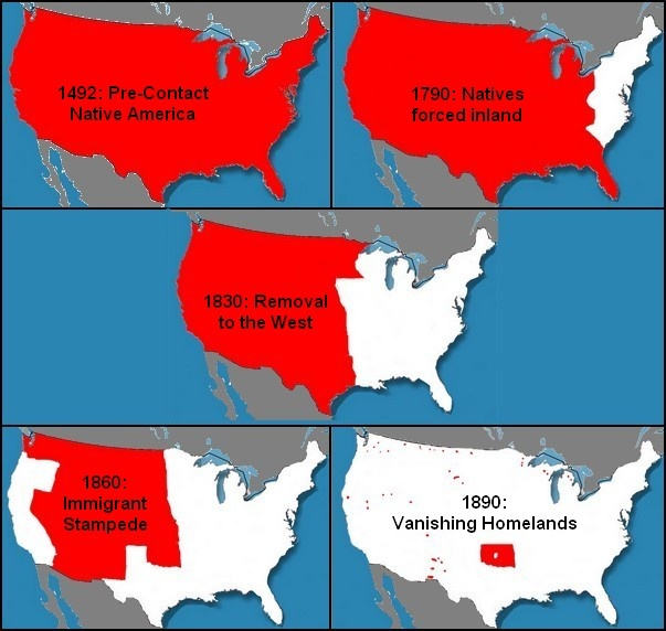 Best First Peoples Images On Pinterest Native Americans - Us wildlife population map 1492