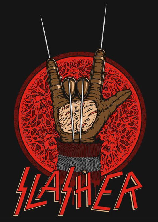 Freddy Krueger / Slayer mash-up shirt design from RIPT Apparel.