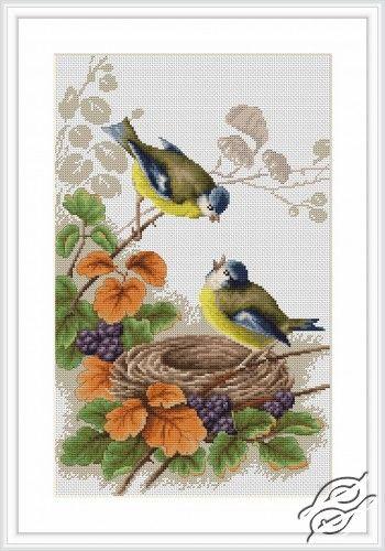Birds in nest - Cross Stitch Kits by Luca-S - B215