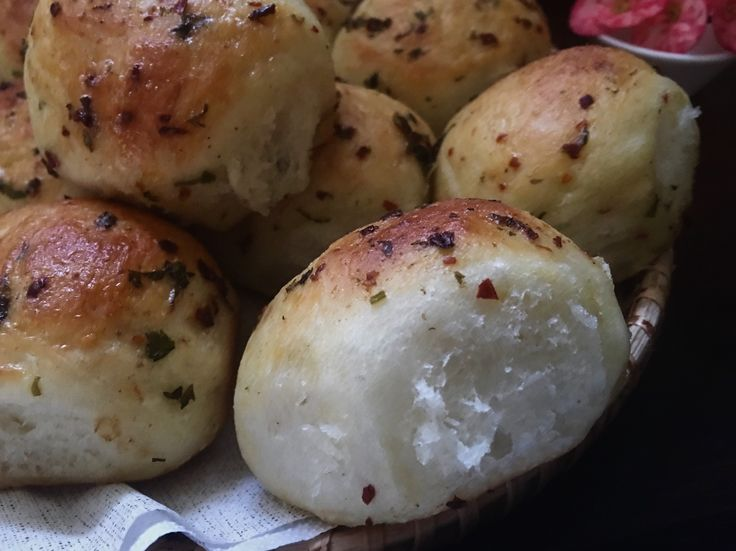 Sweet potato buns flavoured with red chilli flakes,coriander leaves and chaat masala.. - SOULFUL BAKES - by Shano Biju