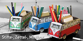 Stifte-, Zettel-, Minibox - We've got the red and blue vans in stock - comes from a super cool company called Werkhaus in Germany