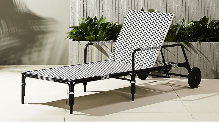 caprice outdoor chaise lounge chair | CB2