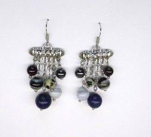 Mixed Gemstone Chandelier Earrings
