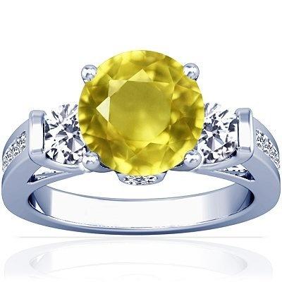 14K White Gold Round Cut Yellow Sapphire Ring With Sidestones GemsNY, http://www.amazon.com/dp/B009DT4P4G/ref=cm_sw_r_pi_dp_7c1Qqb0VXBQEG