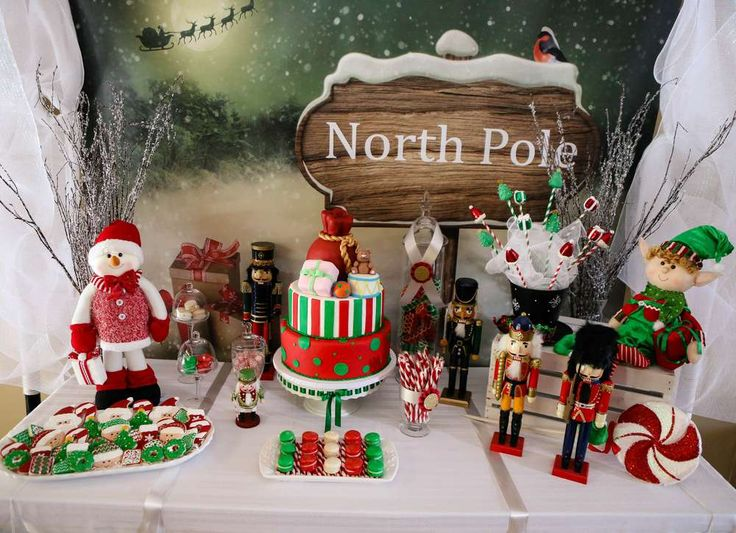 Incredible Dessert Table At A Christmas Party See More