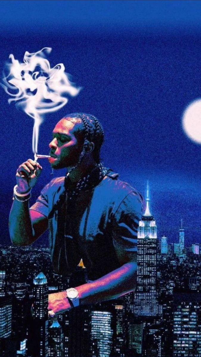 Popsmoke Wallpaper Smoke Wallpaper Rapper Aesthetic Blue Rappers Blue Aesthetic