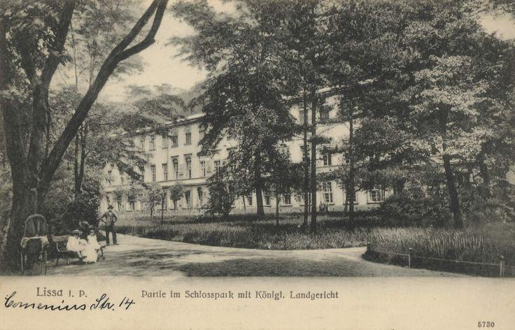 Lissa, Posen: Schlosspark mit Kgl. Landgericht