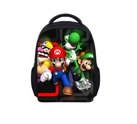 Super Mario Kabartma Baskılı Çocuk Sırt Çantası