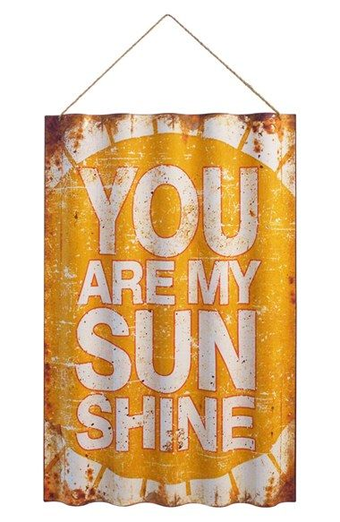 VIP INTERNATIONAL 'You Are My Sunshine' Metal Wall Art available at #Nordstrom