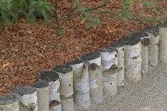 Aménagement de jardin - Poser une bordure en rondins de bois
