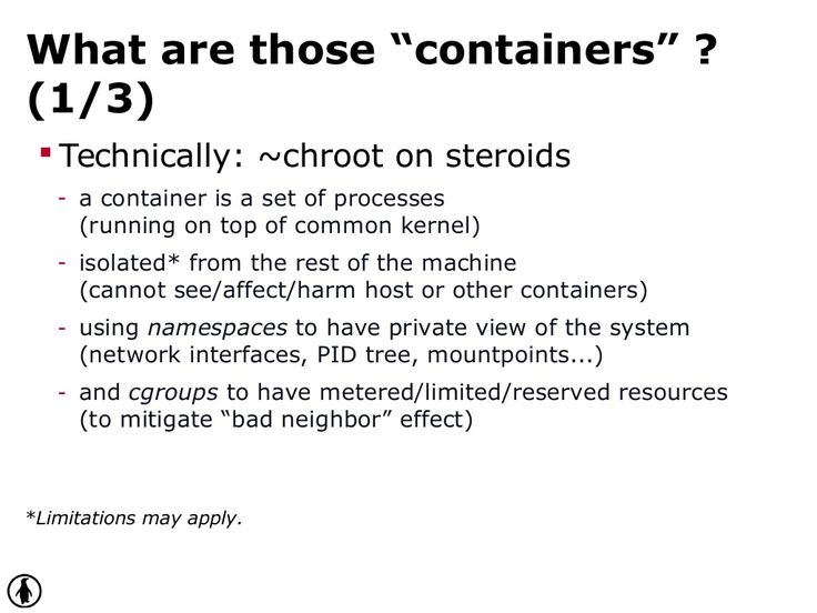 "What are those ""containers"" ? ("