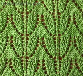 Tulip knitting stitches - lots of free knitting stitch designs - freeknitstitches.com (time to learn lace patterns)