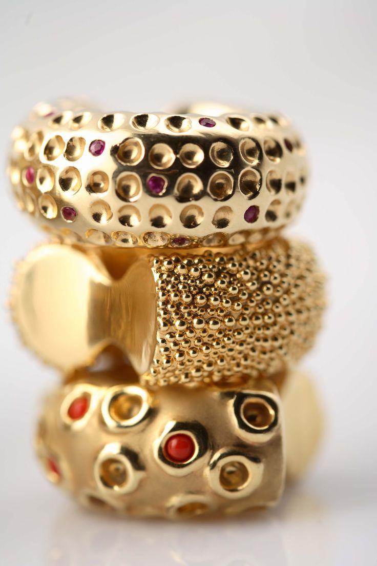 Rings by Giuliana di Franco, Sicilian designer { more info at http://www.giulianadifranco.com }