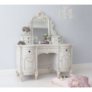 Bonaparte Dressing Table, shabby chic loveliness by The French Bedroom Company…