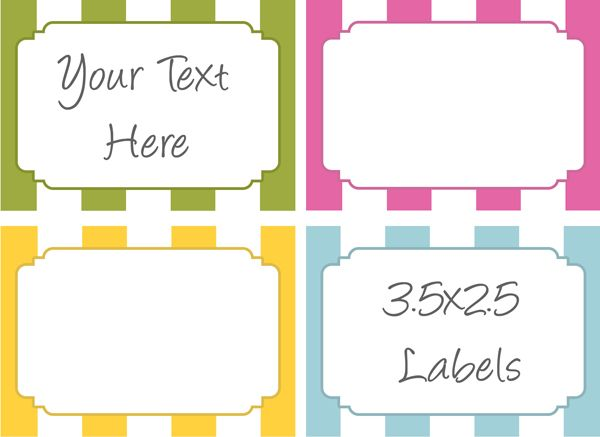 312 best Assorted Household/Organizing labels/Tags (Most are free ...