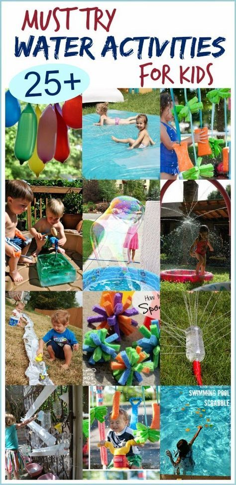 Must Try Water Activities for Kids; the most fun ideas I've seen!