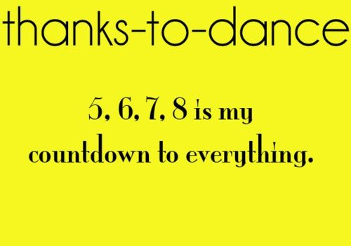 As a new DANCE FOR ALL teacher, I'm learning to talk to the count of 8. It's my new language. <3