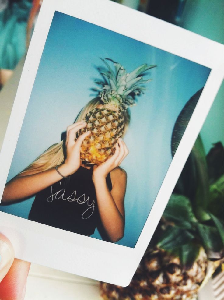 I took a polariod of my pineapple. I wish it was this cool though :(
