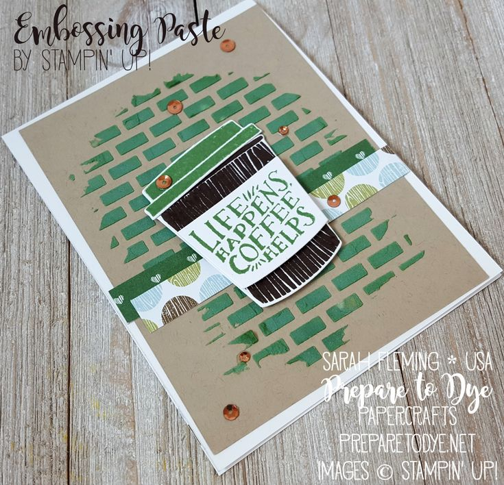 144 best Stampin\' Up - Coffee Break, Latte, and Tea Cards images ...